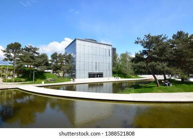 "Wolfsburg, Germany - May 4, 2019: Museum and amusement park ""Autostadt"" of the Volkswagen Group in Wolfsburg"