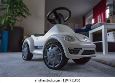 Wolfsburg, lower saxony / Germany - 07 05 2018: Volkswagen Beetle Bobby Car