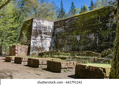 Wolfschanze, Wolf's Lair, Wolf's Fort - Adolf Hitler's command headquarters on the Eastern Front during world war II. Rastenburg in East Prussia, Poland. Nazi fortification.