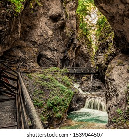 Wolfsklamm canyon beautiful narrow valley , Tyrol, Austria