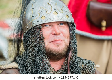 Wolin, Poland - August 02, 2014: 20 th Wolin Viking Festival.This is an important meeting point for Viking and Slav reenactors of Europe. Reenactors are dressed in Viking and Slav armor uniforms.