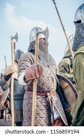 Wolin, Poland - August 02, 2014: 20 th Wolin Viking Festival. This is an important meeting point for Viking and Slav reenactors of Europe.