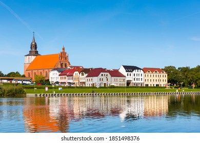 Wolin, Poland - September 18, 2020: Architecture of Old Town in Wolin at sunny day.