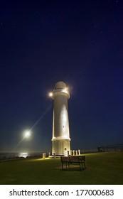 Wollongong lighthouse at sunrise providing safe harbor