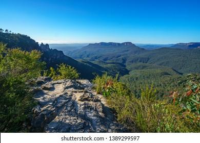 wollumai lookout, blue mountains national park, katoomba, new south wales, australia