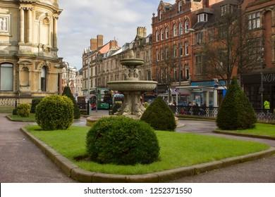 Wolverhampton, England. 01.24.2017. Wolverhampton city centre, UK, England