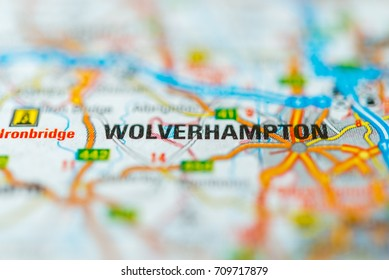 Wolverhampton on map.