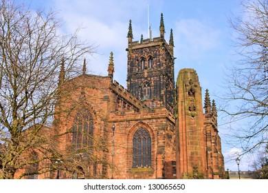 Wolverhampton in West Midlands, England. St. Peter's Collegiate Church.