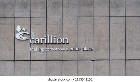 Wolverhampton/UK - 2/3/18 : Building of headquarter in Wolverhampton where was base Carillion plc , British construction giant in liquidation 2018.