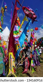 WOMAD Festival New Zealand, New Plymouth: 15th - 17th March 2019: Flags of Color