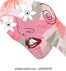 Woman abstract face