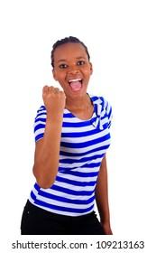 woman african metisse black think