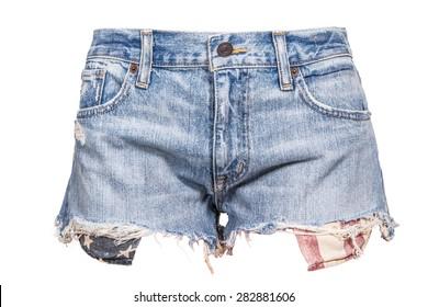 woman american flag jean shorts