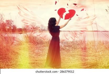 heart broken girl images