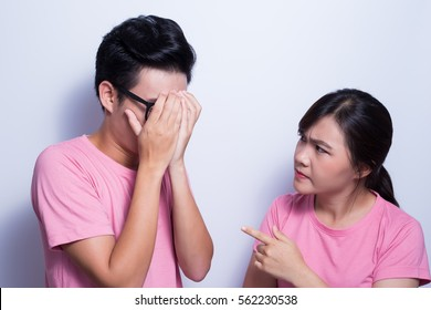 Woman angry her boyfriend