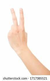 Woman arm, victory, hand gesture