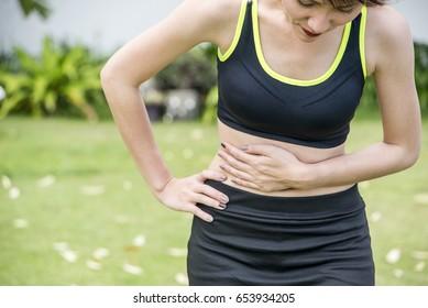 woman  Asia  abdominal, pain
