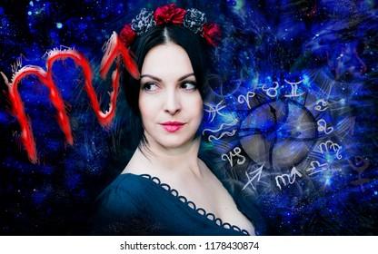 Woman and astrology , scorpio zodiac sign