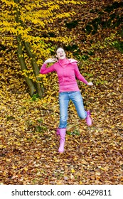 woman in autumnal nature