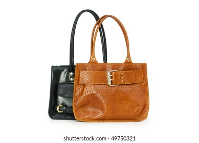 a5c59e21f5 Collection Stylish Colorful Leather Handbags Pockets Stock Vector ...