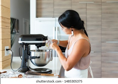 Woman Baking in the Kitchen