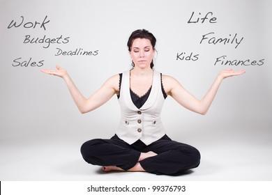 Woman balancing life and work