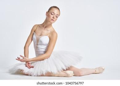 woman, ballerina, pointe