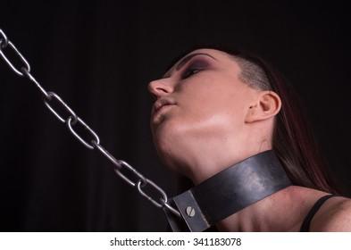 woman bdsm chain