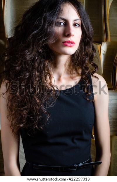 Woman with beautiful hair.