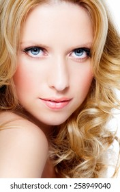 Woman with beautiful long blond hair.