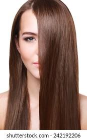 Woman with beautiful long  hair