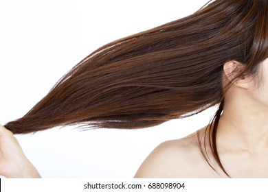 Woman with beautiful long hair