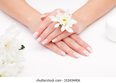 Woman with beautiful manicured nails