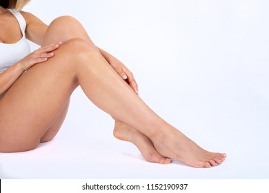 Woman in beauty center spa on the studio