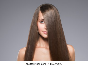 Woman beauty face healthy skin natural makeup beautiful young model