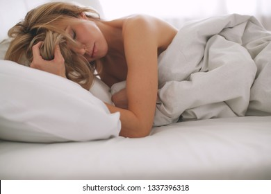 Woman in bed
