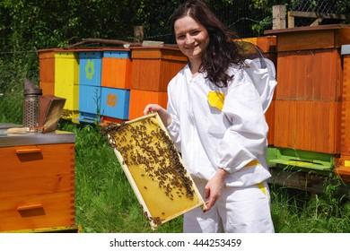Woman beekeeper