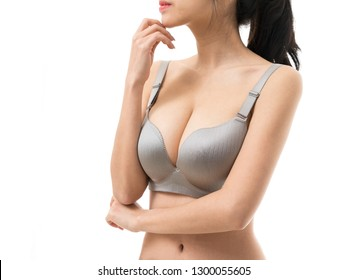 Woman in big boobs body parts