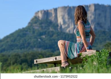 Woman Bismantova site
