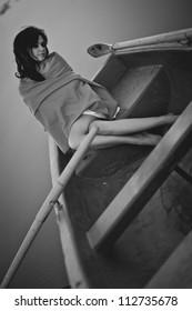 Woman in Black & White