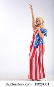 Consider, that naked girl american flag that