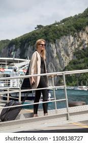 woman boarding the ferry