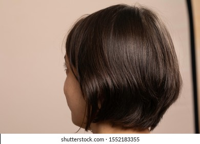 Short Haircut Back Images Stock Photos Vectors Shutterstock