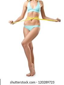 Woman body in bikini isolated