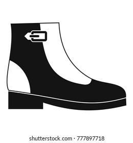 Woman boots icon. Simple illustration of woman boots  icon for any web design