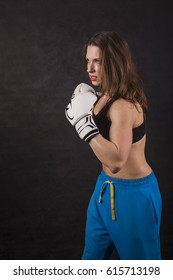 Woman Boxer with Gloves