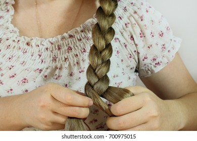 woman with a braid