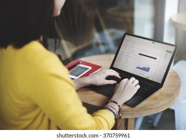 Woman Browsing Correspondence E-mail Reply Concept