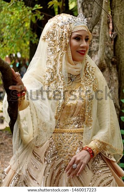 Woman Brunai Islamic Marriage Dress Stock Photo (Edit Now) 1460017223