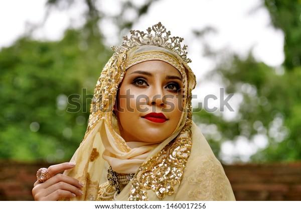 Woman Brunai Islamic Marriage Dress Stock Photo (Edit Now) 1460017256